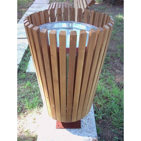 TYPE 2401 TRASH CAN ROUND STEEL – WOOD